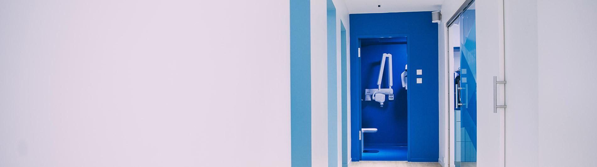 Raum der Zahnarztpraxis für Datenschutz